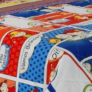 Jogo de Cama Solteiro Kids 150 fios 100% Algodão - Quadrinhos Multicor - Dui Design