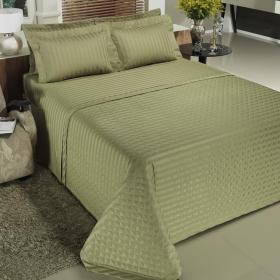 Jogo de Cama Queen Cetim 300 fios - Royally Verde Oliva - Dui Design