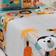 Jogo de Cama Solteiro Kids 100% algodão - Safari - Santista