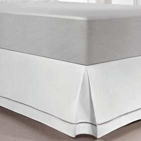 Saia para cama Box Solteiro - Ponto Palito - Kacyumara