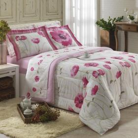 Edredom King Percal 180 fios - Salom� Pink - Dui Design