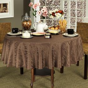 Toalha de Mesa F�cil de Limpar Redonda 160cm - Savana Chocolate - Dui Design
