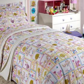 Kit: 1 Cobre-leito Solteiro Infantil + 1 Porta-travesseiro 150 fios - Sissi - Kacyumara