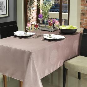 Toalha de Mesa F�cil de Limpar Quadrada 4 Lugares 160x160cm - Solaris Rosa Velho - Dui Design