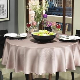 Toalha de Mesa F�cil de Limpar Redonda 160cm - Solaris Rosa Velho - Dui Design