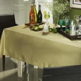 Toalha de Mesa F�cil de Limpar Quadrada 4 Lugares 160x160cm - Solaris Verde Sage - Dui Design