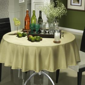 Toalha de Mesa F�cil de Limpar Redonda 160cm - Solaris Verde Sage - Dui Design