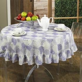 Toalha de Mesa Redonda 160cm - Suzie Lil�s - Dui Design