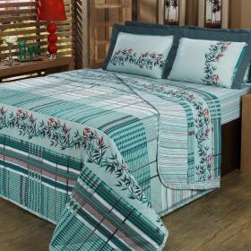 Jogo de Cama Casal 150 fios - Takay Azul - Dui Design