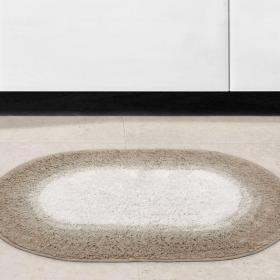 Tapete de algod�o com antiderrapante 1300g/m� - Degrade Oval - Kacyumara