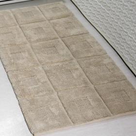 Tapete 60x120cm de algod�o com antiderrapante 1600g/m� - Grid - Kacyumara
