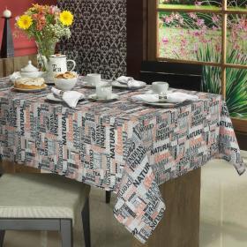Toalha de Mesa Quadrada 4 lugares 140x140cm - Tea Cinza - Dui Design