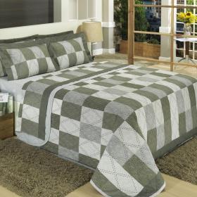 Kit: 1 Cobre-leito Solteiro + 1 Porta-travesseiro Percal 200 fios - Toronto - Dui Design