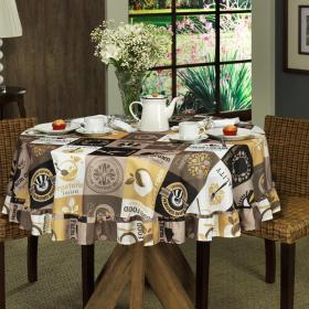 Toalha de Mesa Redonda 160cm - Vegan Cinza - Dui Design