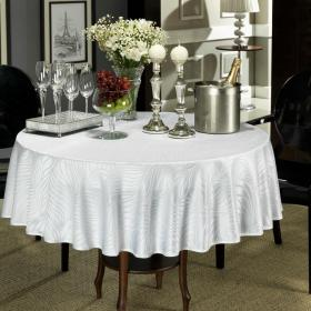 Toalha de Mesa F�cil de Limpar Redonda 160cm - Vernon Branco - Dui Design