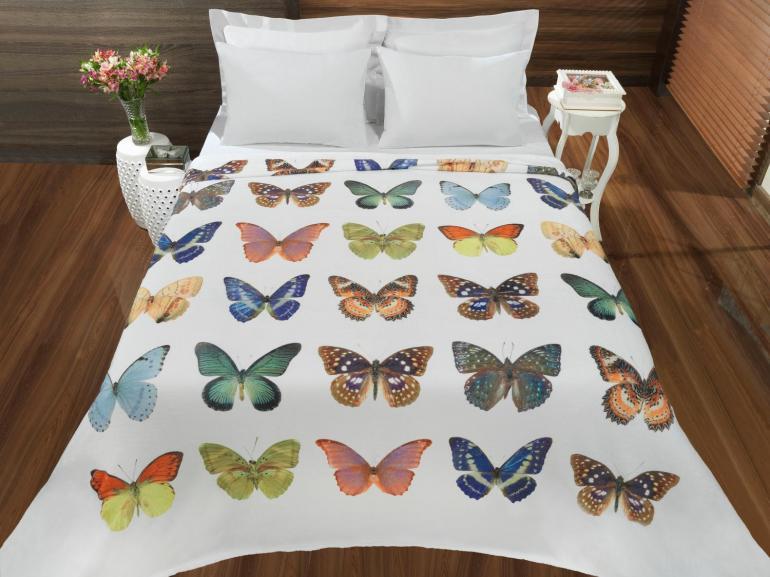 Cobertor Avulso Casal Flanelado com Estampa Digital - Volare - Dui Design