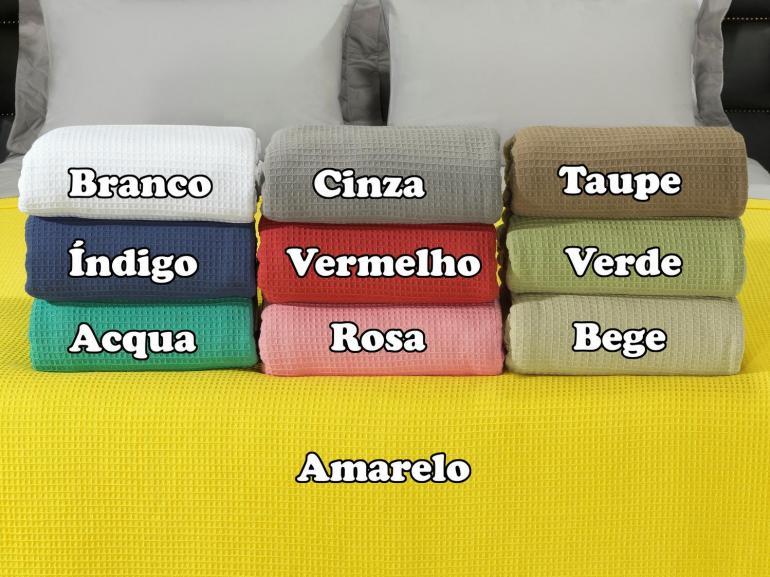 Colcha Avulsa de Algodão Piquet Favo Casal - Waffle - Dui Design